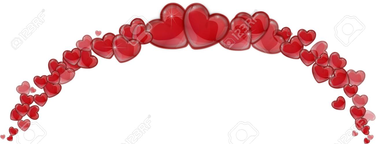 frame of red hearts on a white background for a valentine stock photo 25932589 valentine