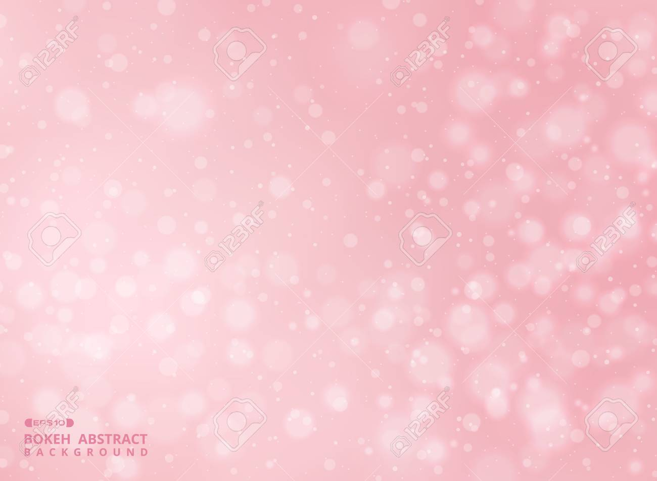 Gradient pink color background with abstraction of bokeh pattern, illustration vector eps10 - 126408512