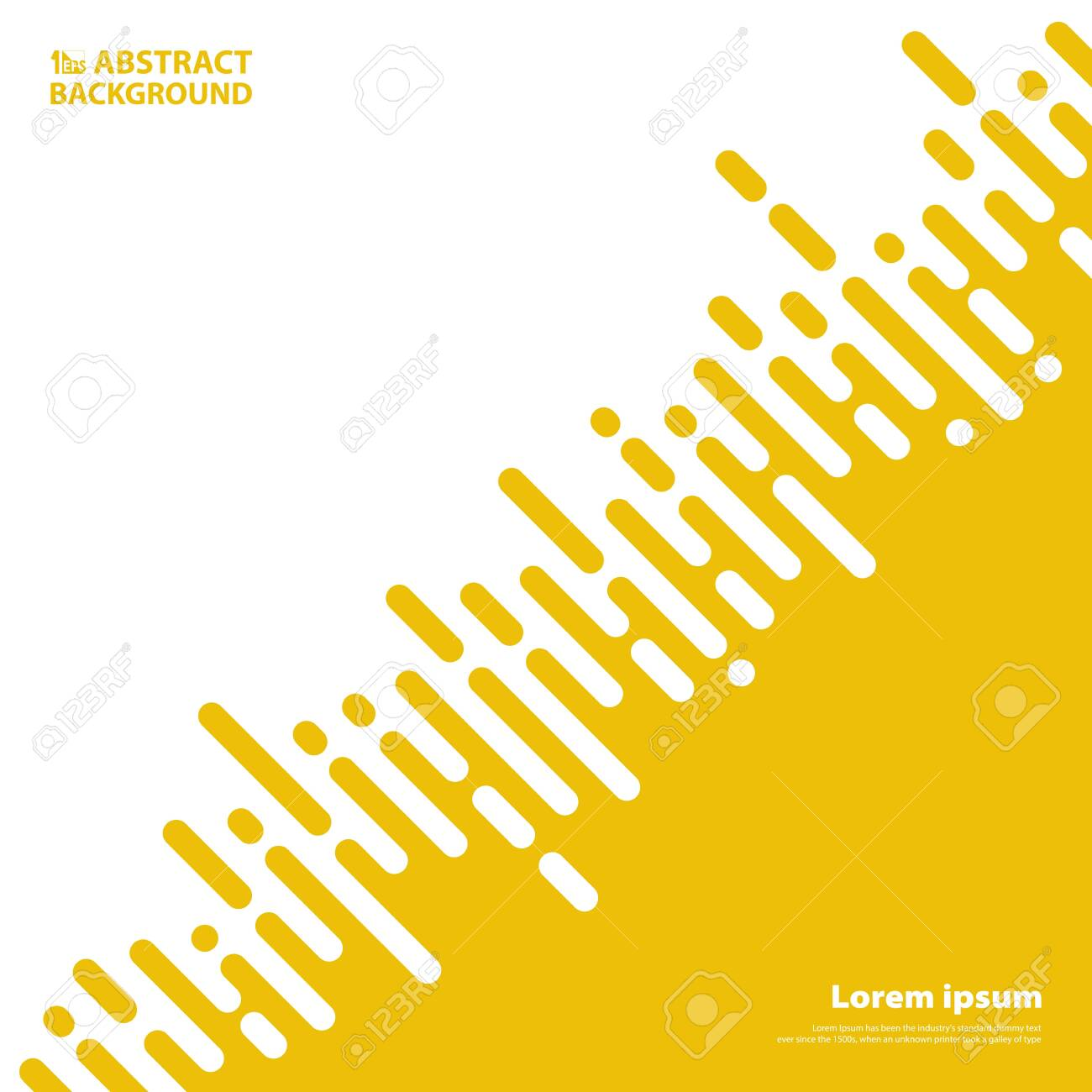 Abstract yellow mustard color stripe lines for business presentation
