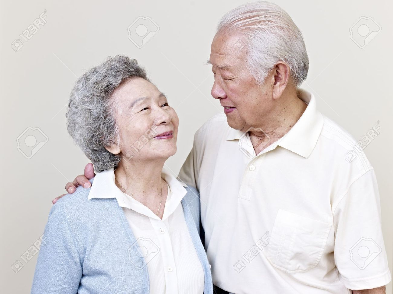 portrait of a senior asian couple Stock Photo - 20196969