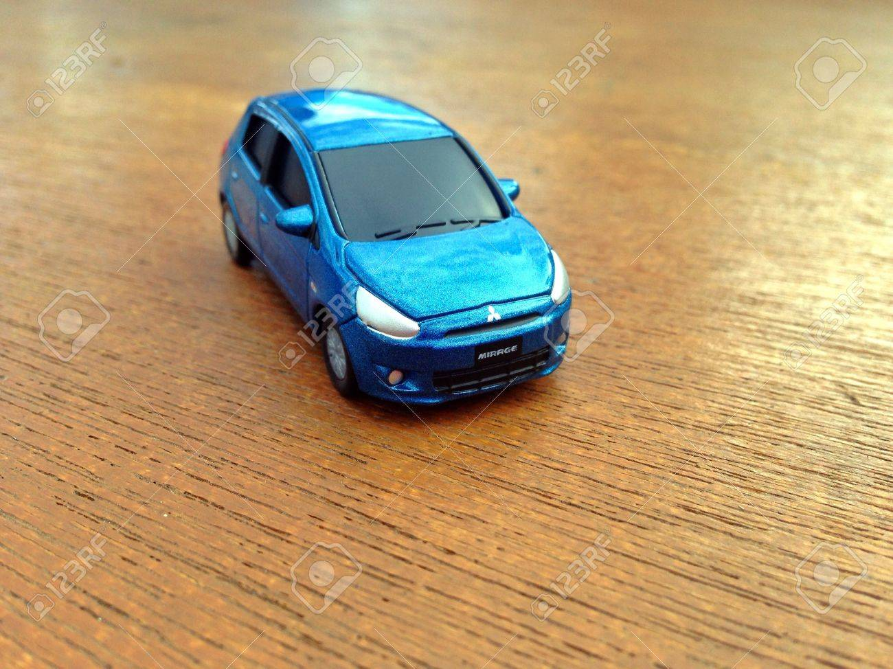 mitsubishi mirage toy car stock photo picture and royalty free