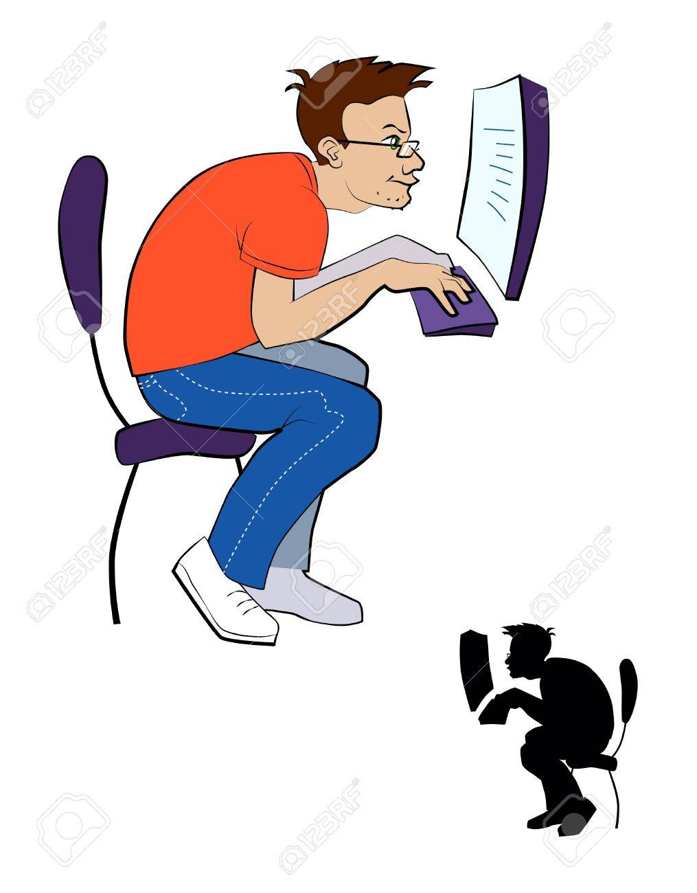 Vector illustration of a programmer Stock Vector - 9589264
