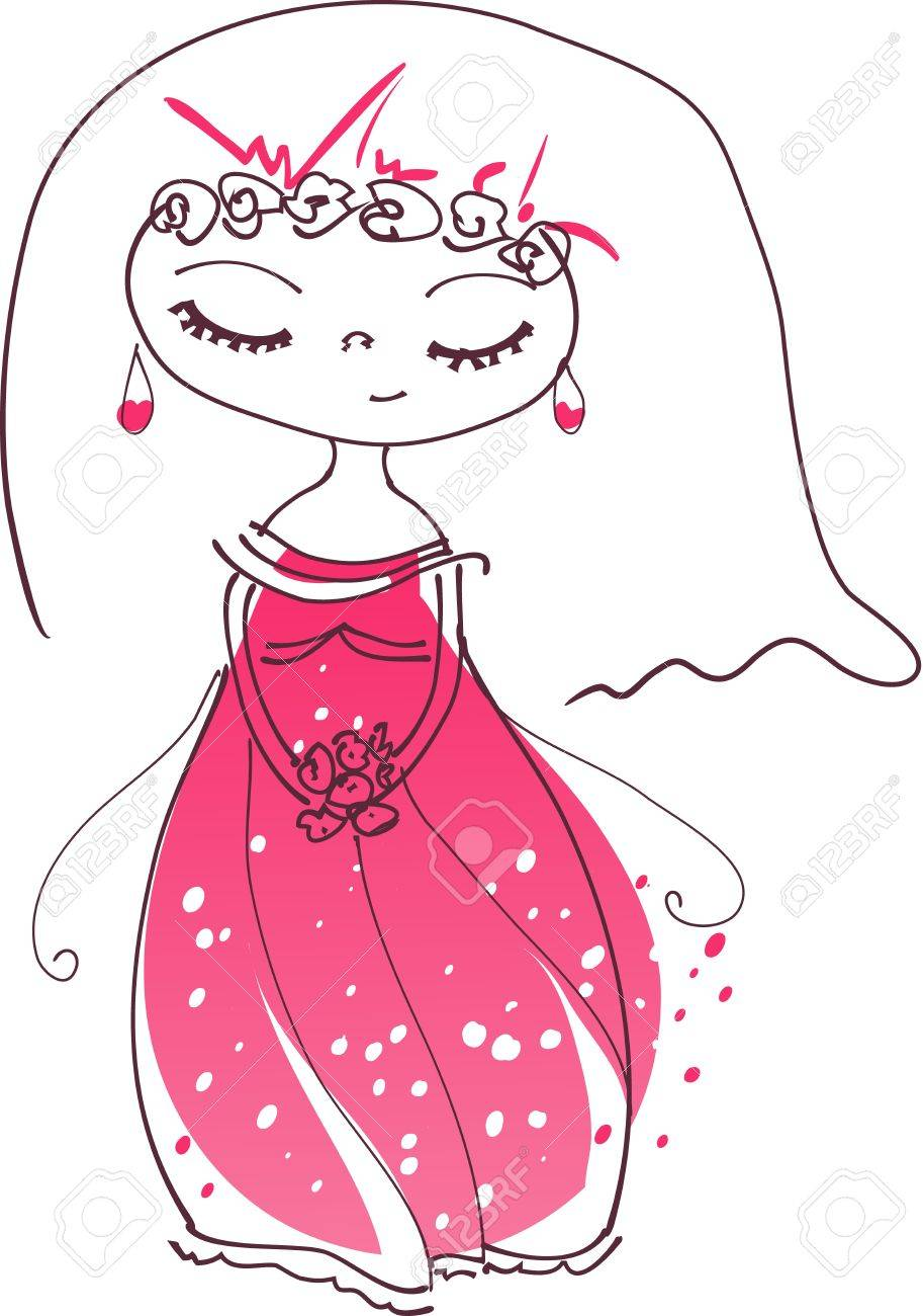 illustration of a cute bride Stock Vector - 10972060
