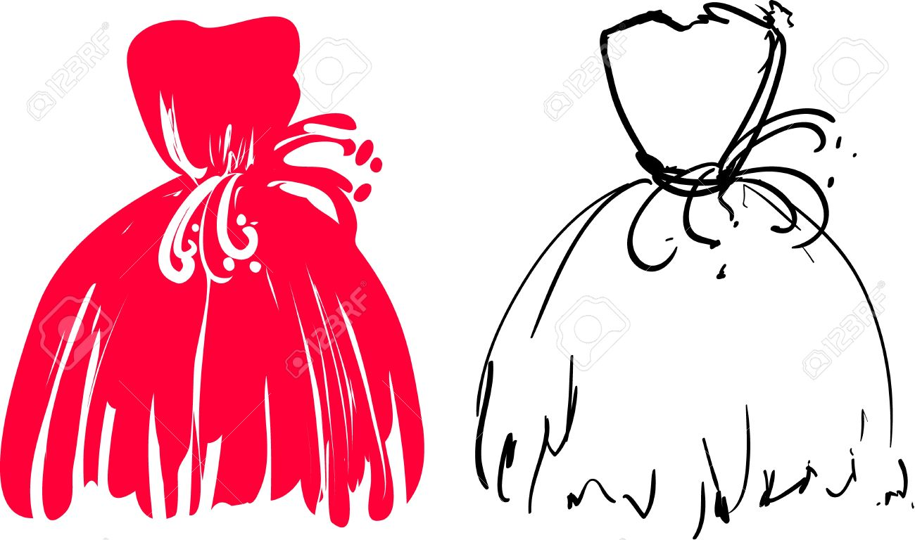 Vector Illustration of nice red sketchy dress Stock Vector - 12933989