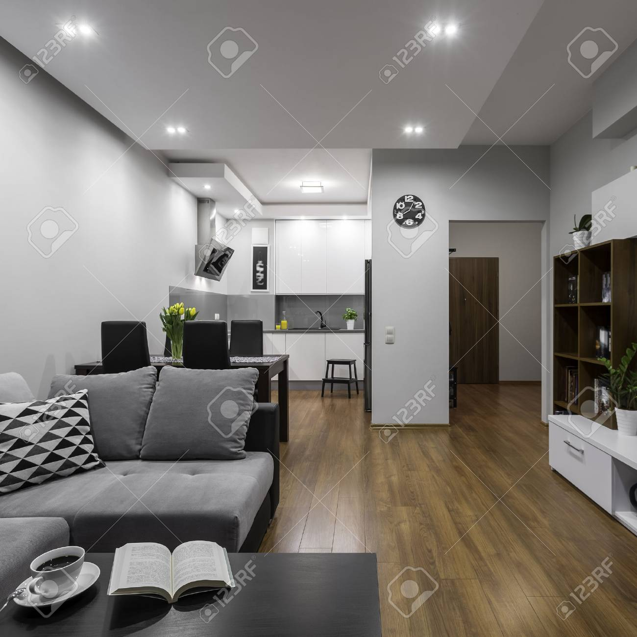 Very Creative Design Of Small Space In Modern Apartment Stock Photo Picture And Royalty Free Image Image 58746997