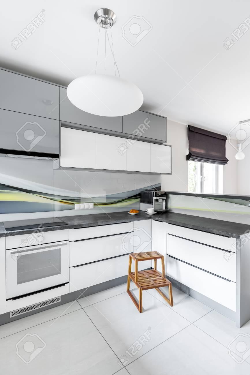 de nueva lámpara techo moderna y diseño con cocina de taburete de Blanca madera zqMVSUp