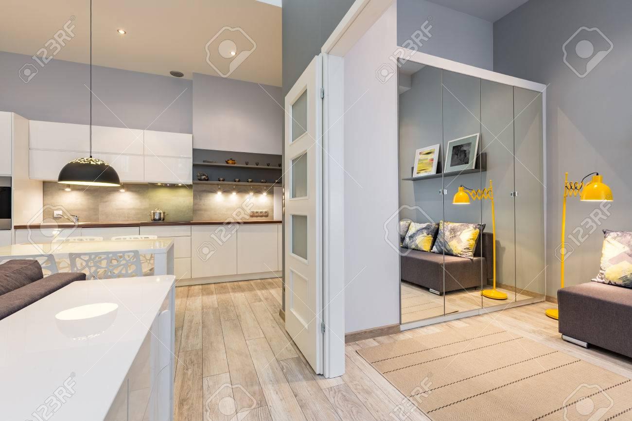Nuovo Appartamento Di Design Con Cucina Funzionale E Porta ...