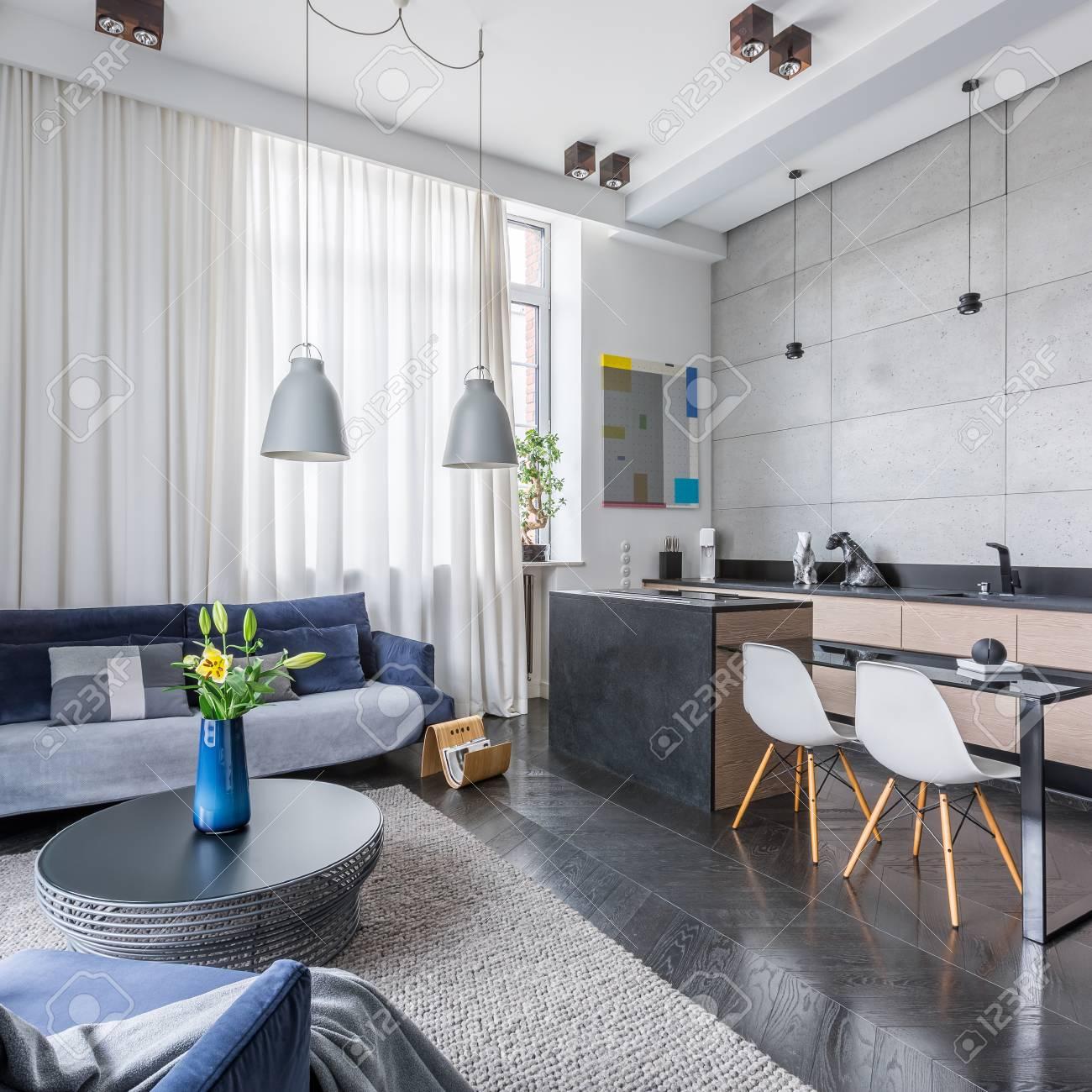 New Style Multifunktionale Wohnung Mit Wohnzimmer Und Küche