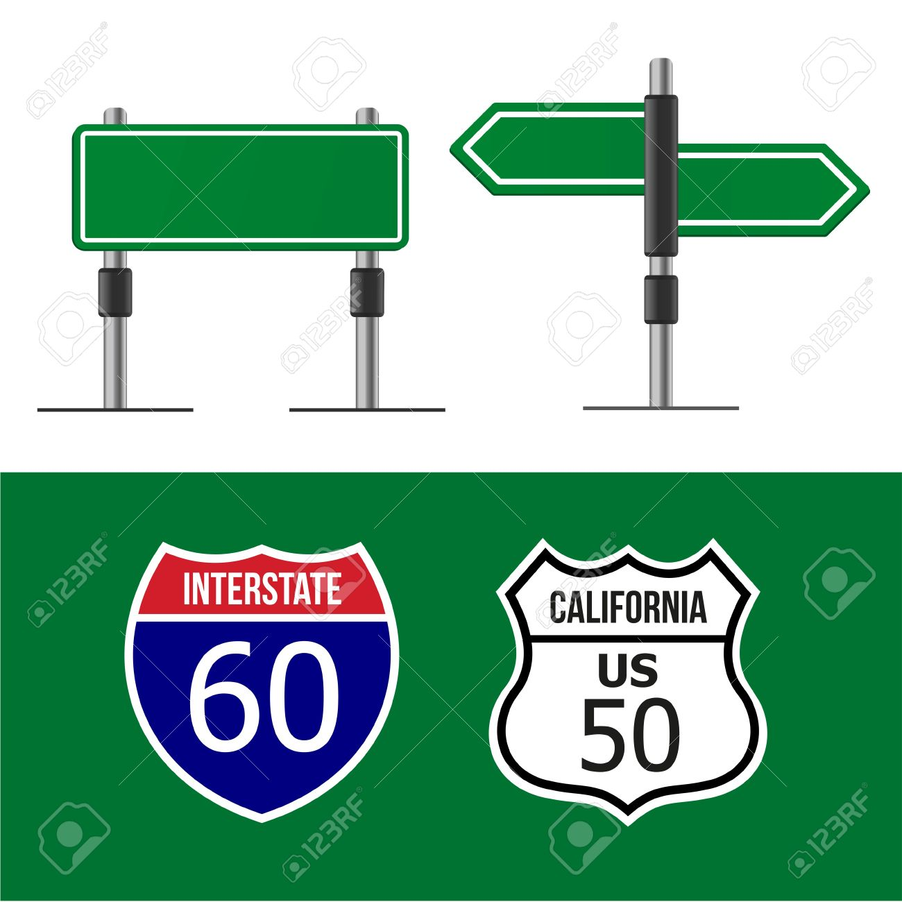 Modern Road Sign Design Template Royalty Free Cliparts, Vectors ...