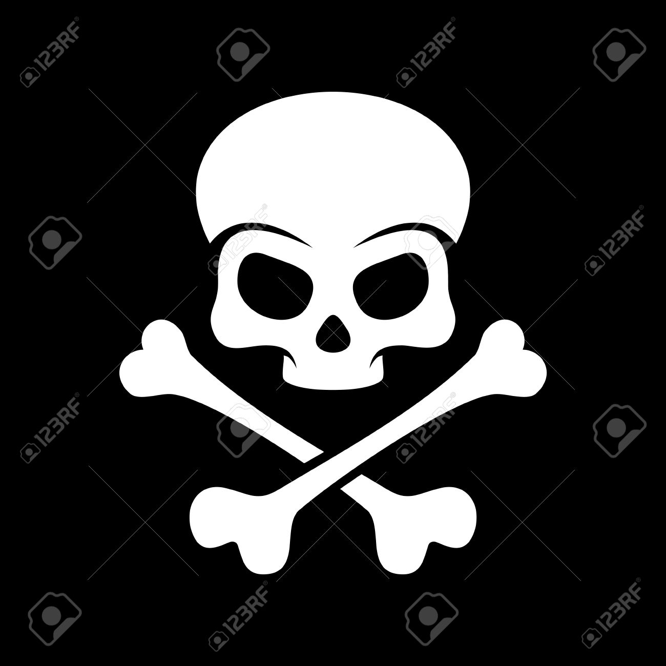 Skull And Bones A Mark Of The Danger Warning Stock Photo Picture