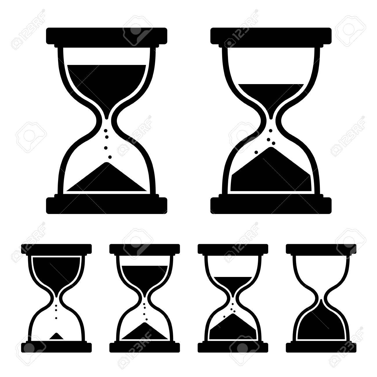 Sandglass icon  Sand Glass Clock Icons Set. Vector Illustration Royalty Free ...