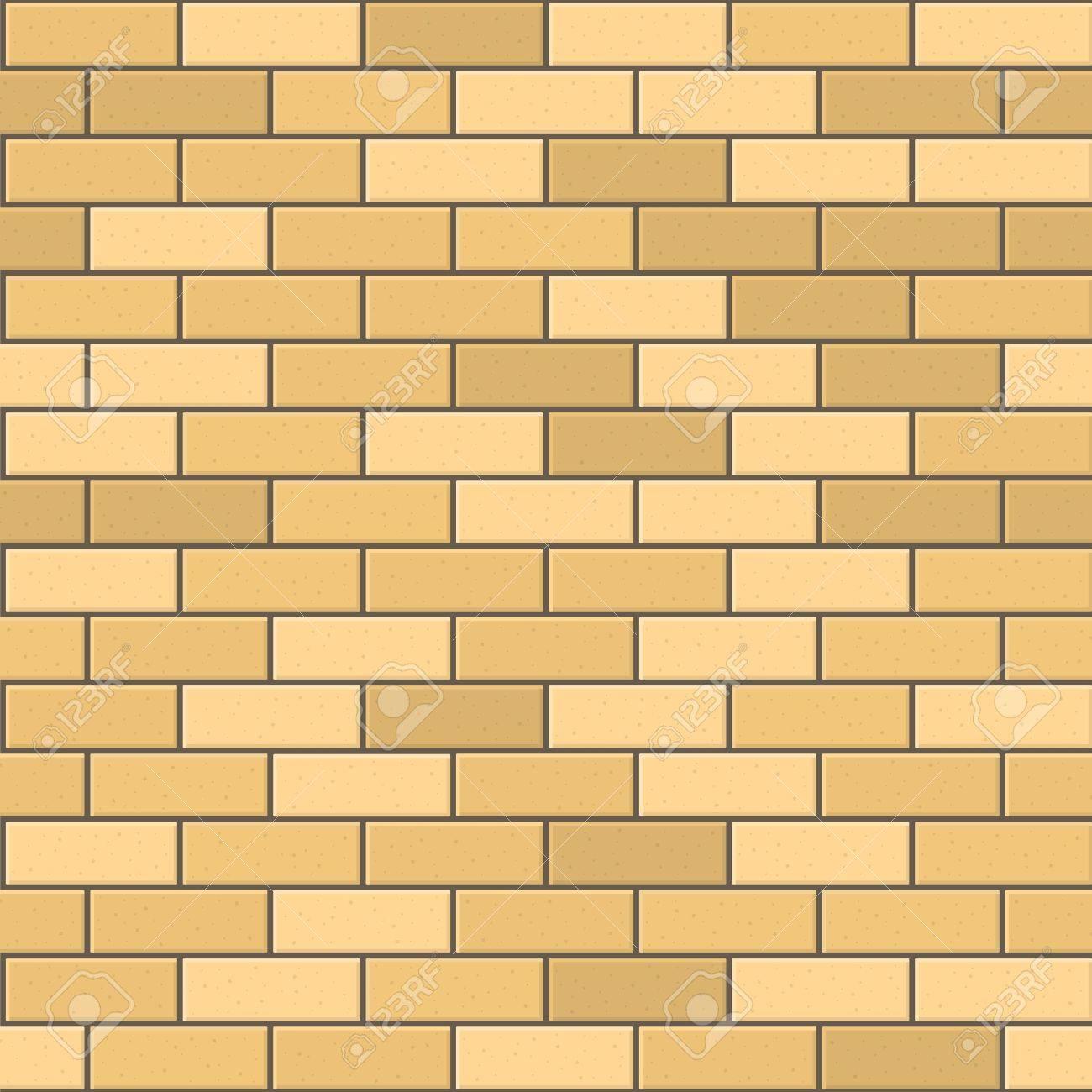 Seamless Pattern Of Yellow Brick With Dark Seam. Vector Illustration ...
