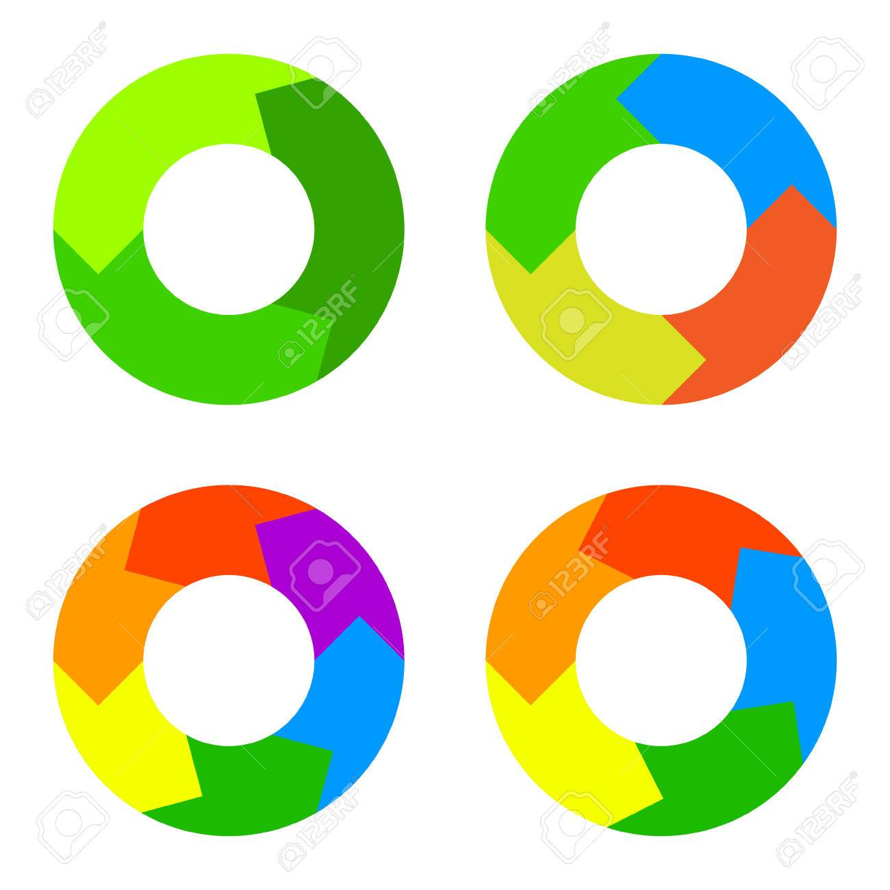 circle color diagram set in flat design style royalty free cliparts rh 123rf com