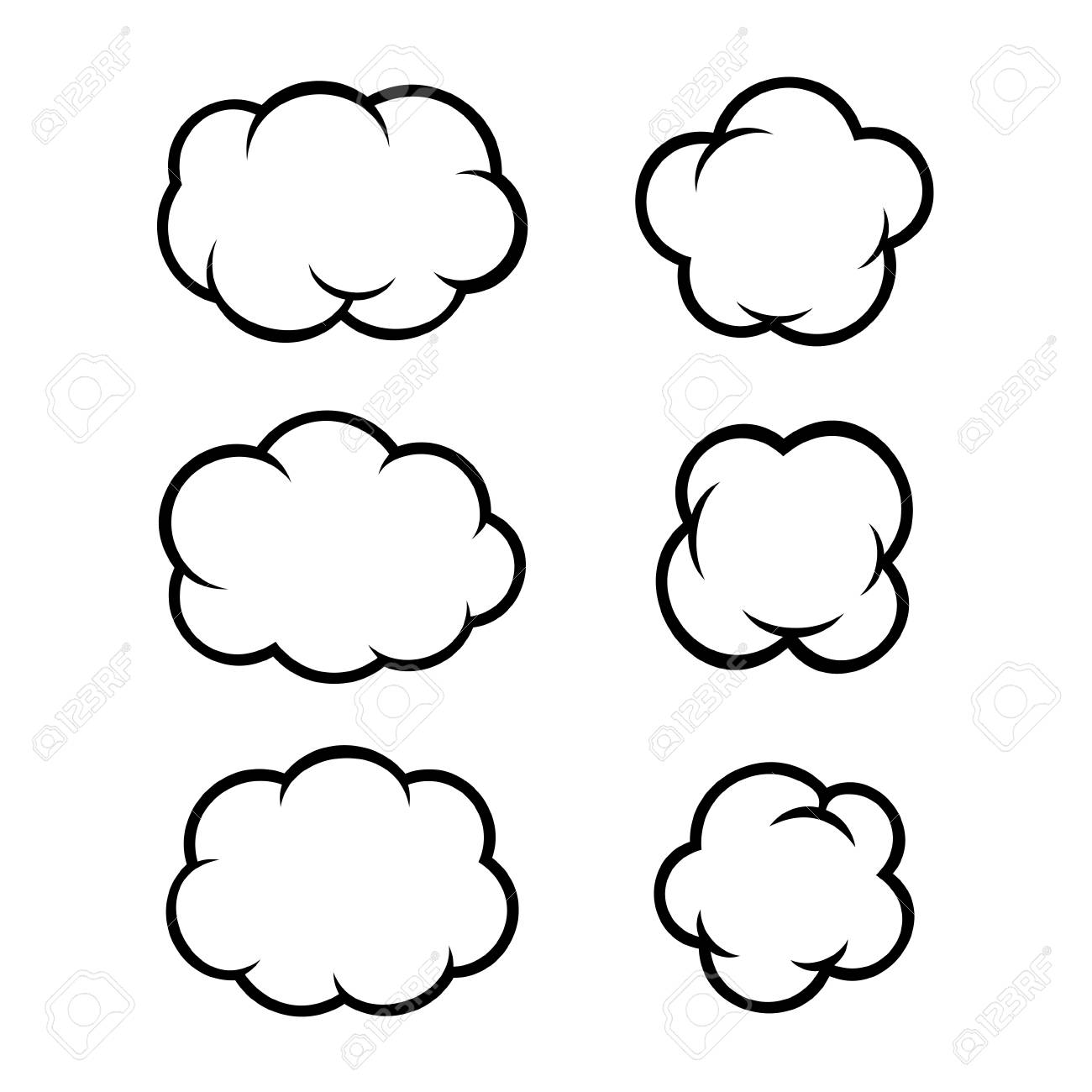 Set of Comic Bubbles and Elements. Vector illustration - 35244112