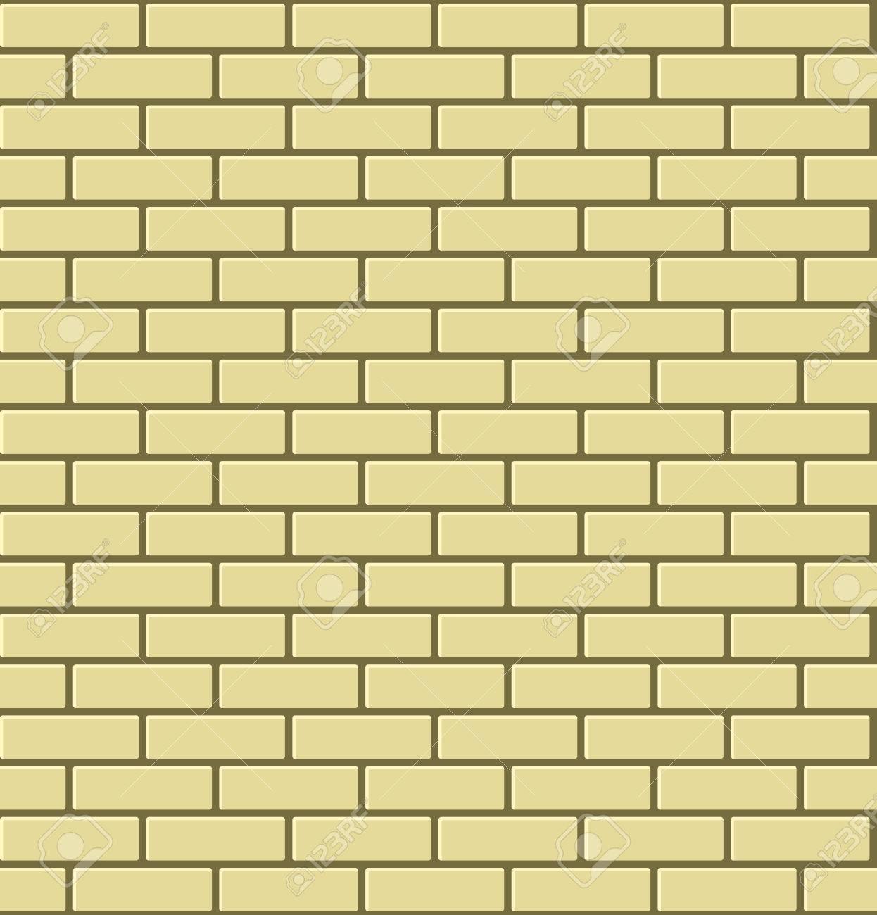 Seamless Pattern Of Yellow Brick. Vector Illustration Ilustraciones ...