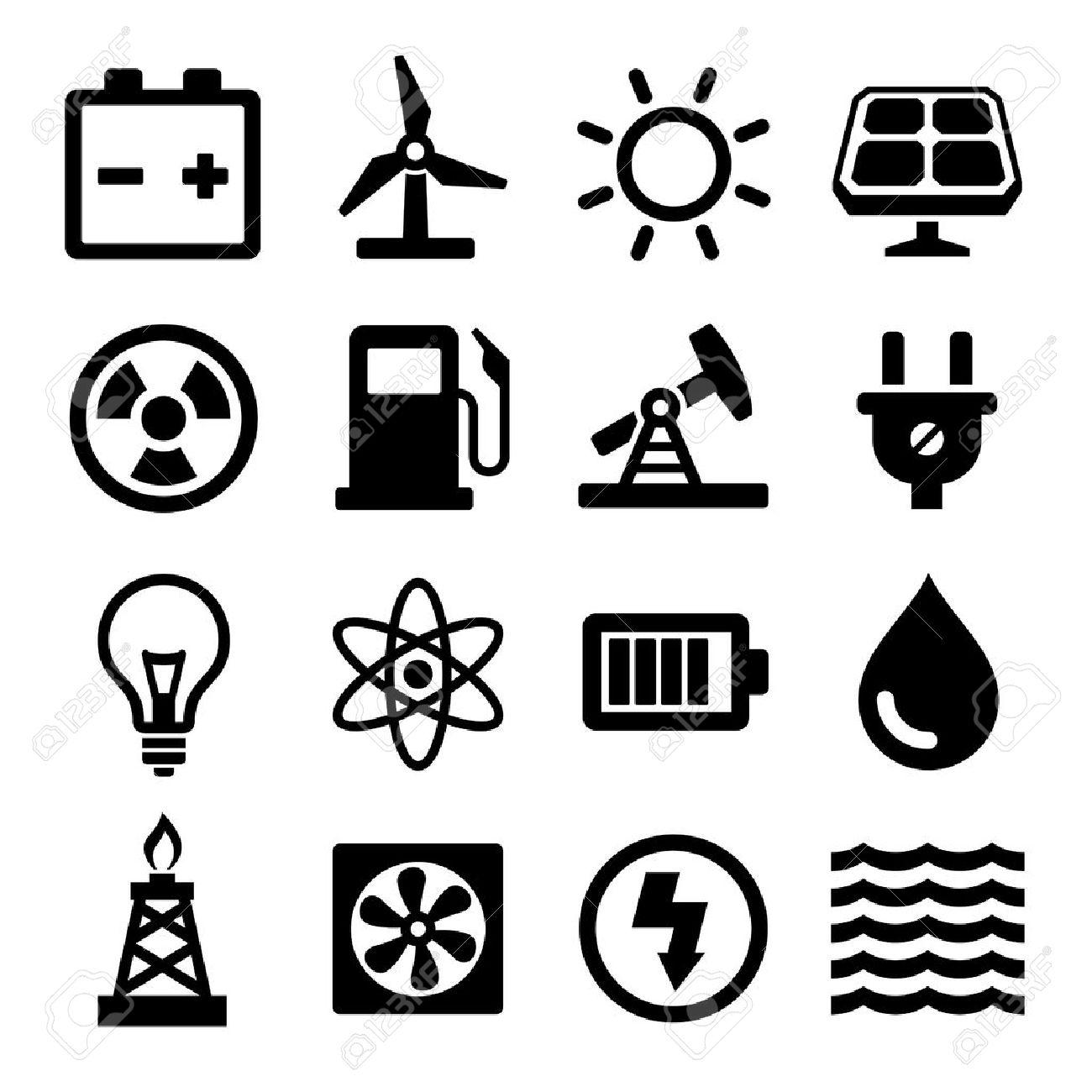 Energy Icons Set - 37822661