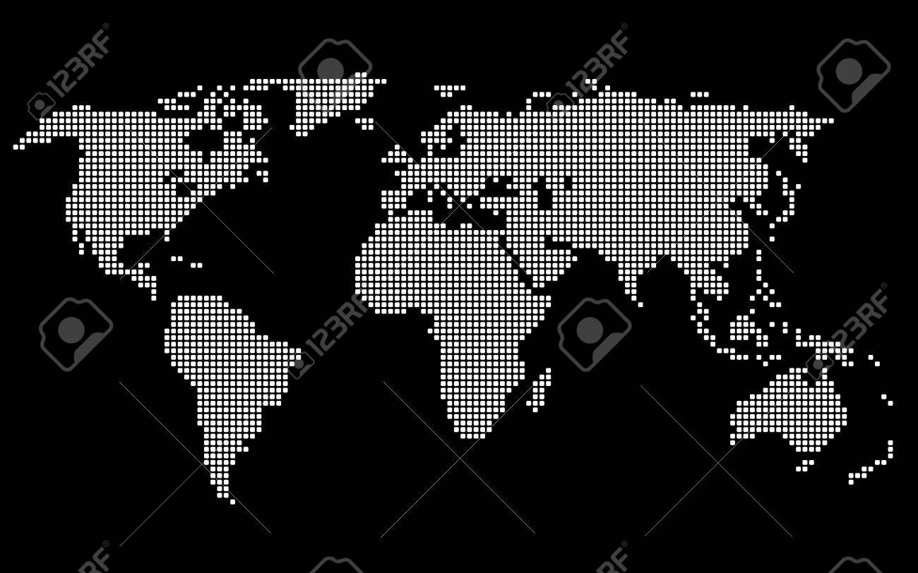 Dotted world map white on black background vector illustration dotted world map white on black background vector illustration foto de archivo 46167698 gumiabroncs Images