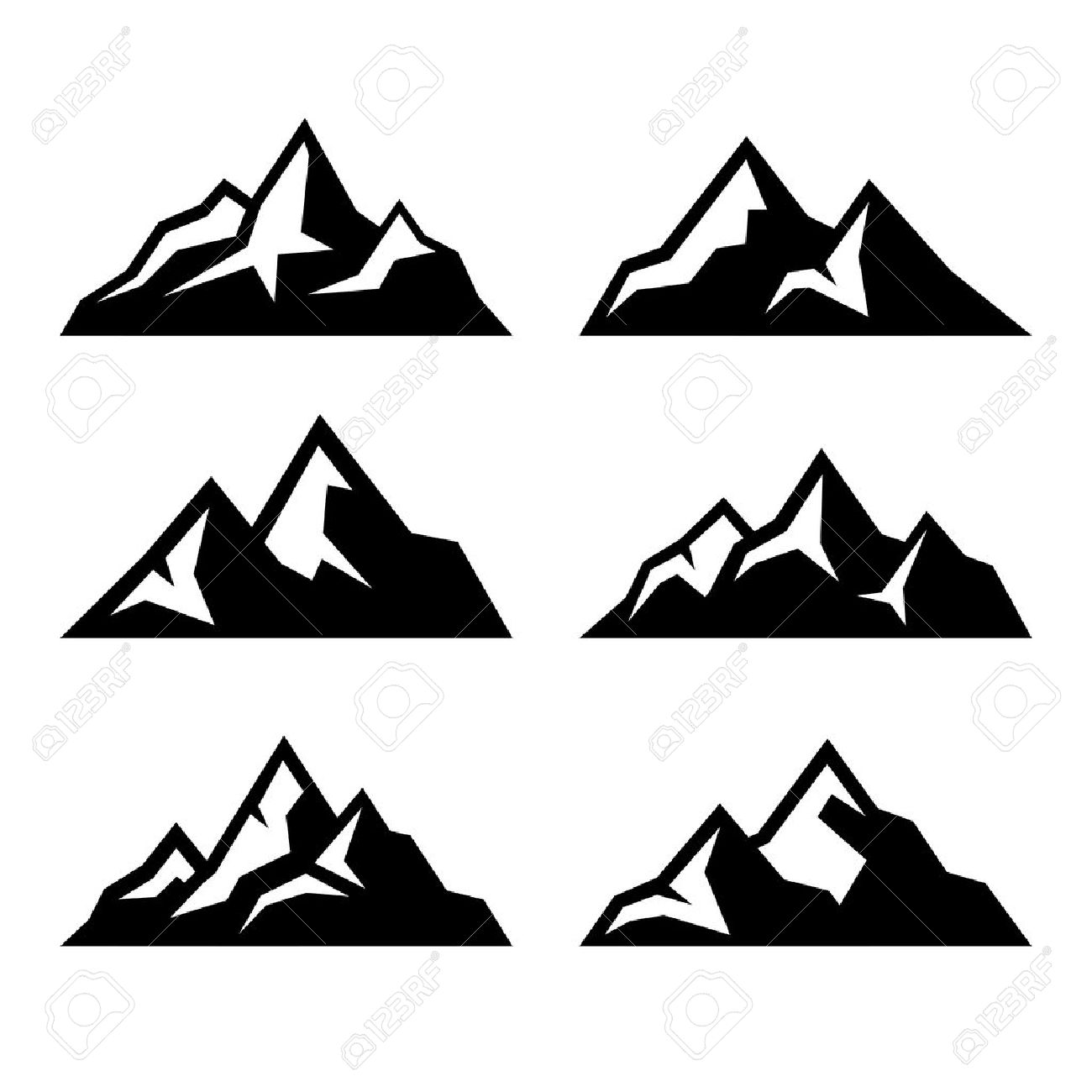 mountain icons set on white background vector illustration royalty rh 123rf com mountain vector energy mountain vector image