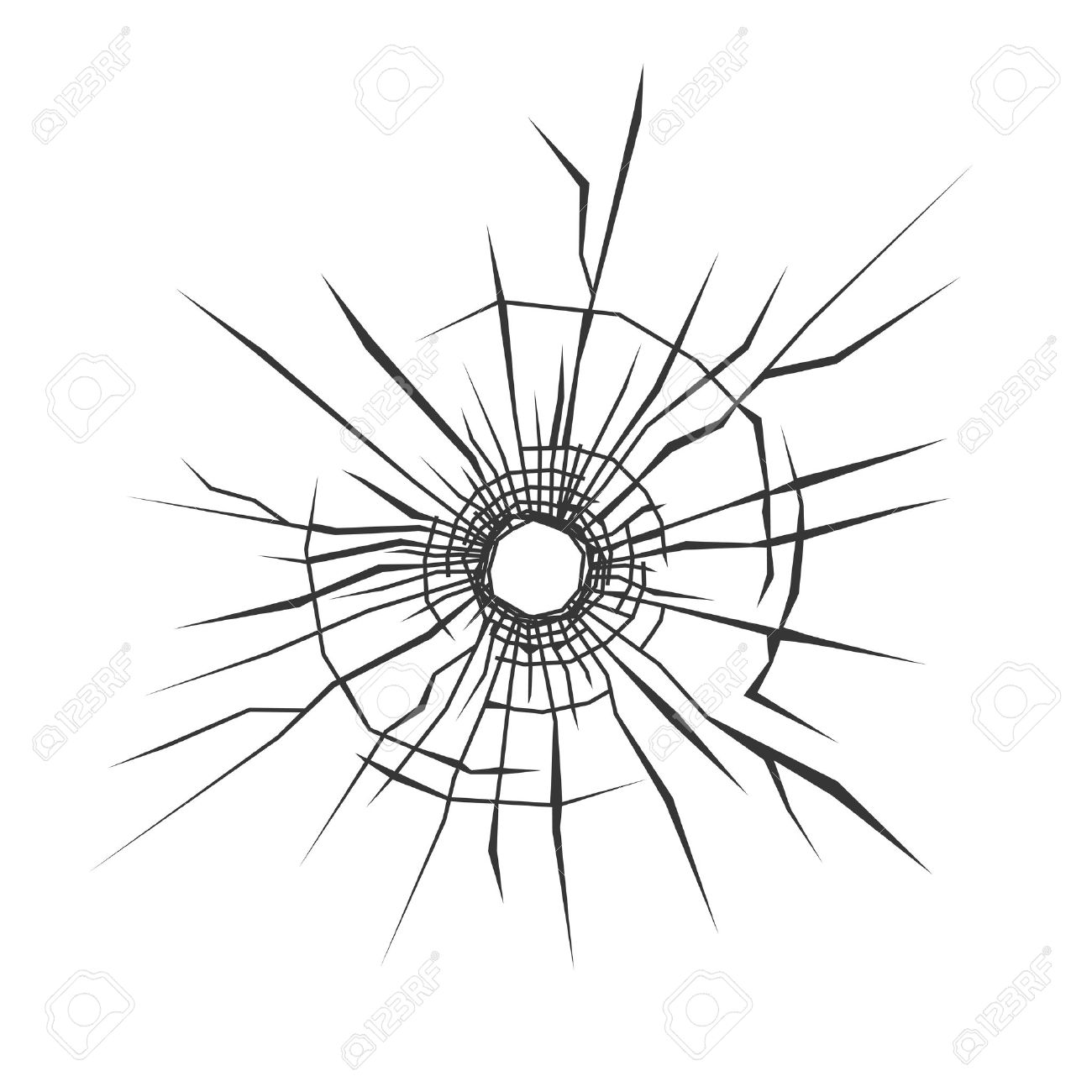 bullet hole in glass white background vector illustration royalty rh 123rf com bullet holes clipart free bullet holes clipart free