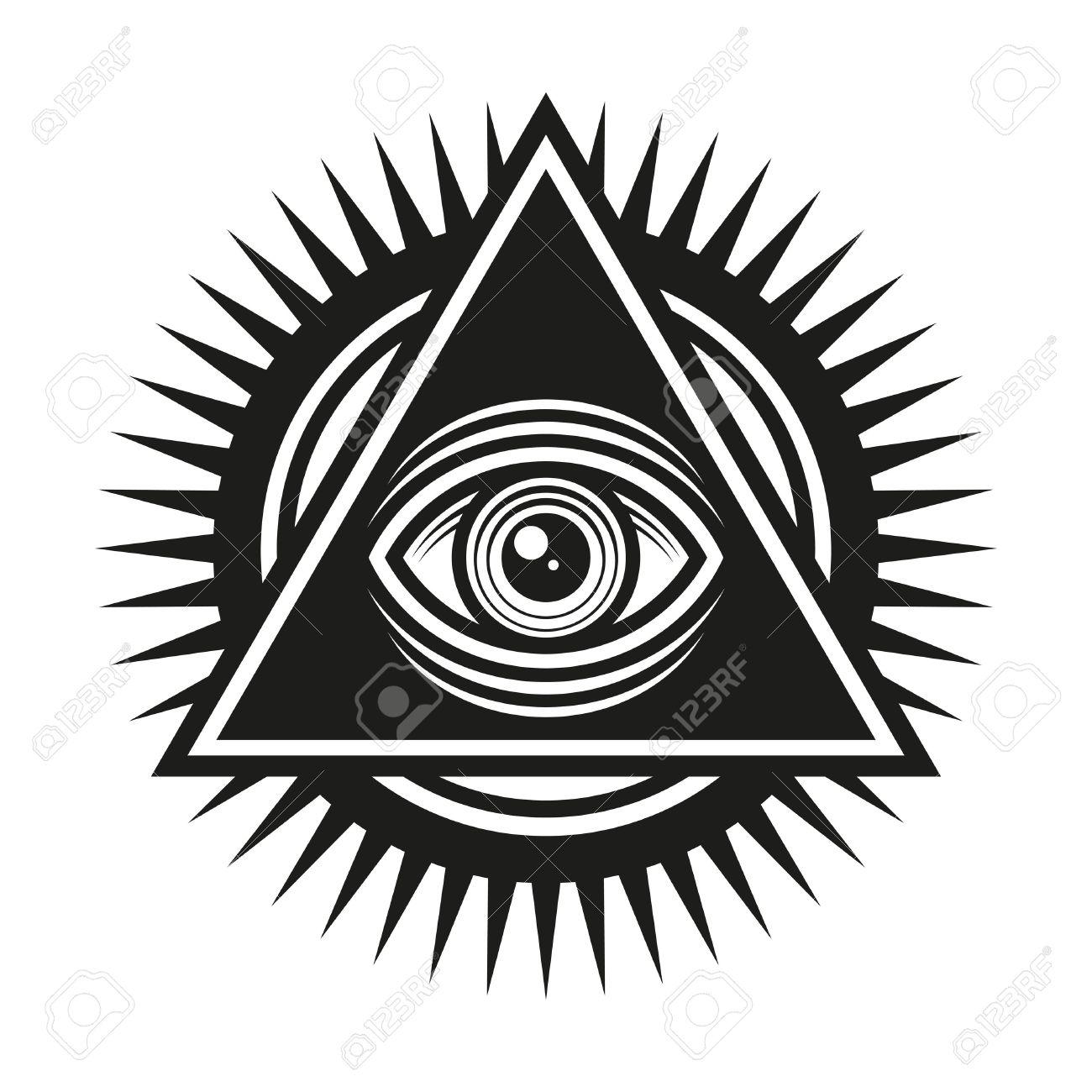 Masonic symbol all seeing eye inside pyramid triangle icon masonic symbol all seeing eye inside pyramid triangle icon vector illustration stock vector buycottarizona Image collections