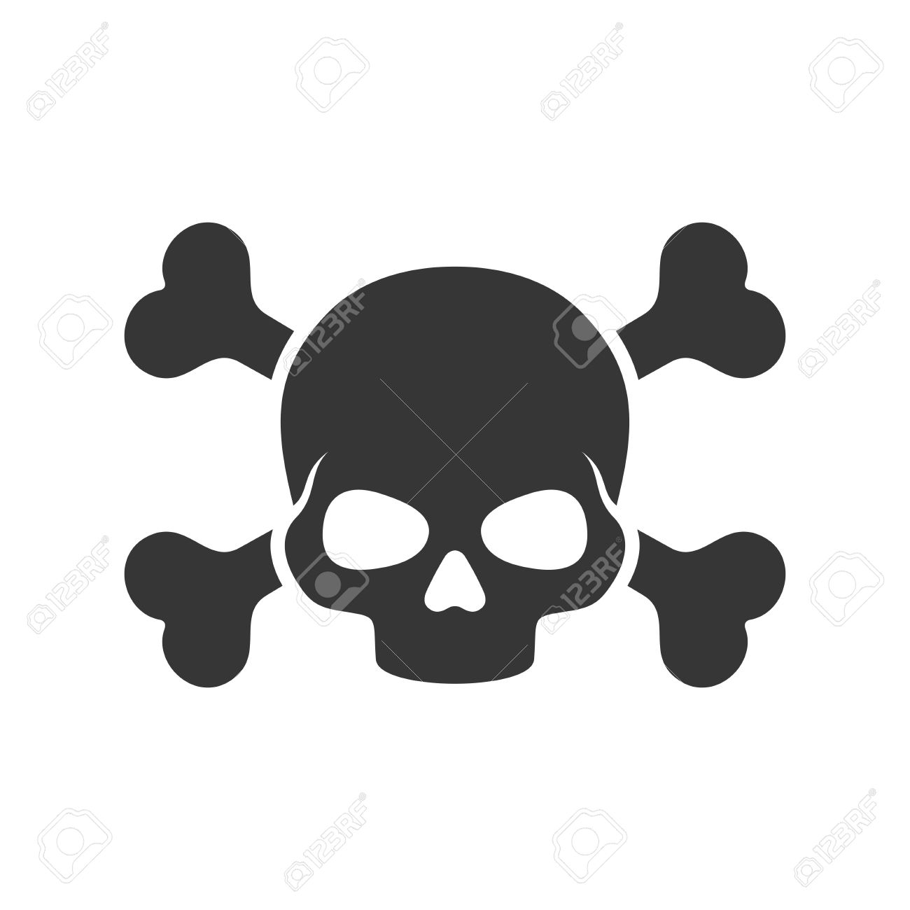 skull and crossbones icon on white background vector royalty free rh 123rf com skull and crossbones vector art free skull and crossbones flag vector