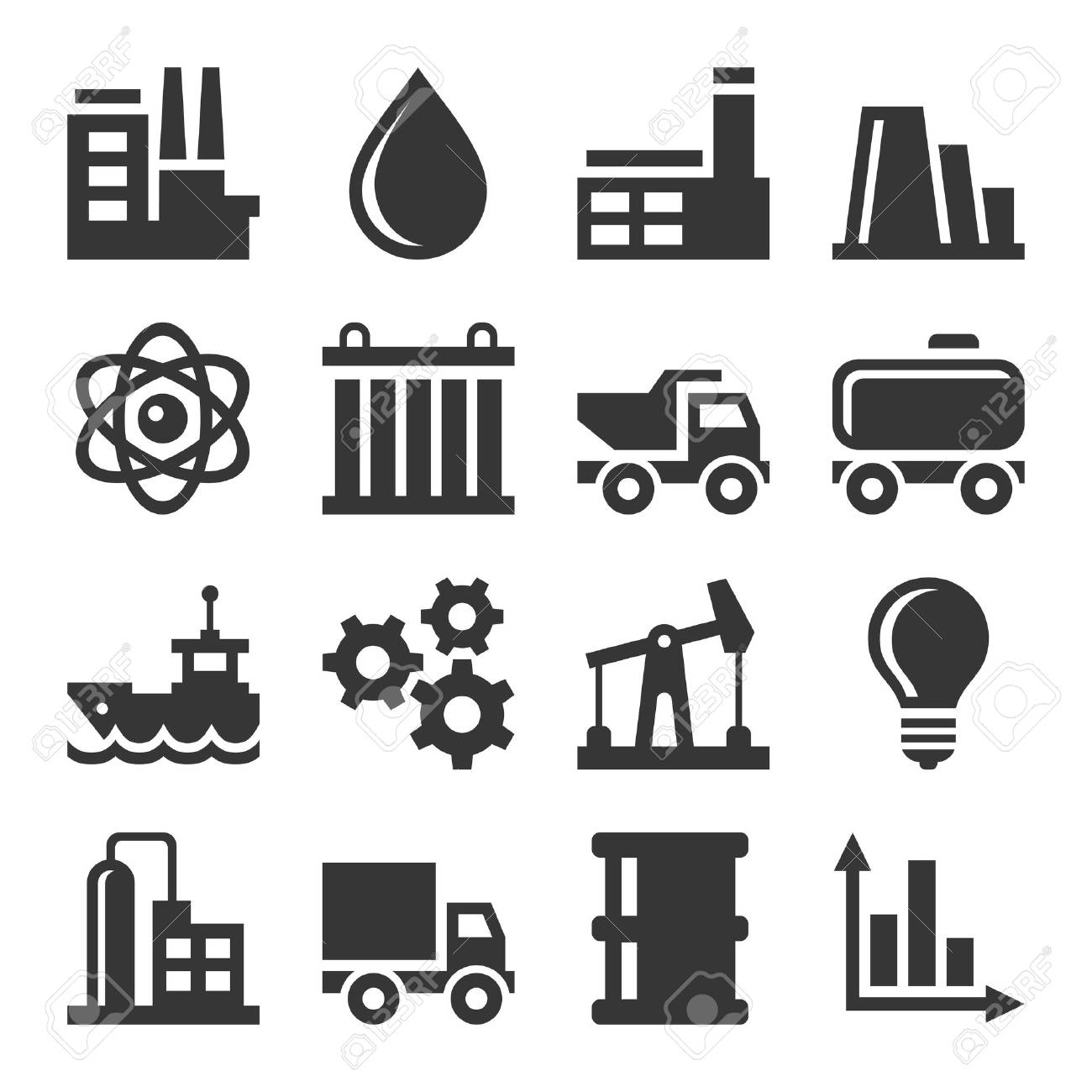 Industry Icons Set - 75587135