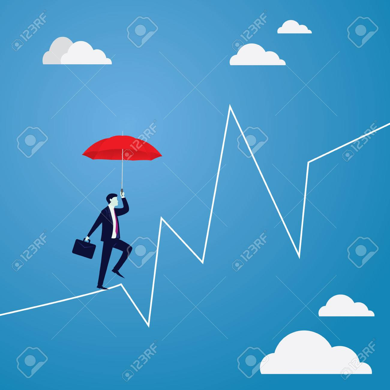 Risk challenge in business concept. - 85213469