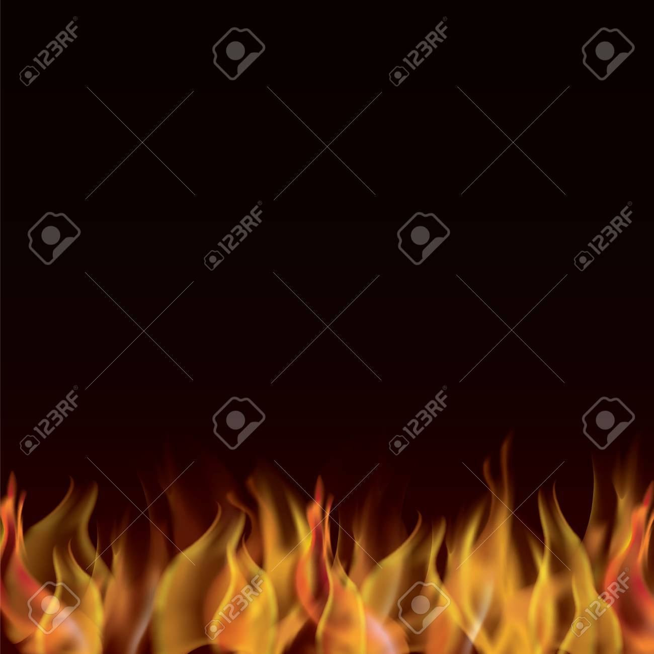 illustration of realistic fire flames backdrop which are copy