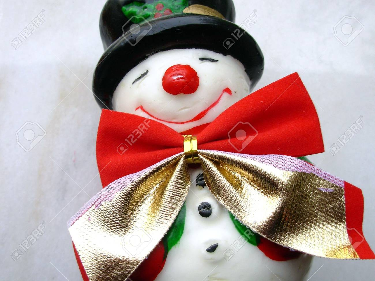 Closeup of christmas snowman on a white background Stock Photo - 653468