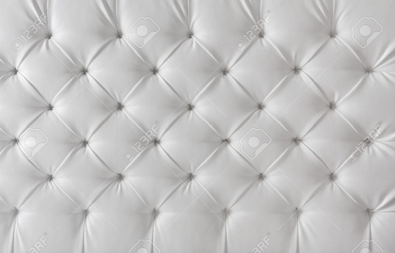 Leather Upholstery White Sofa Texture, Pattern Background Stock ...
