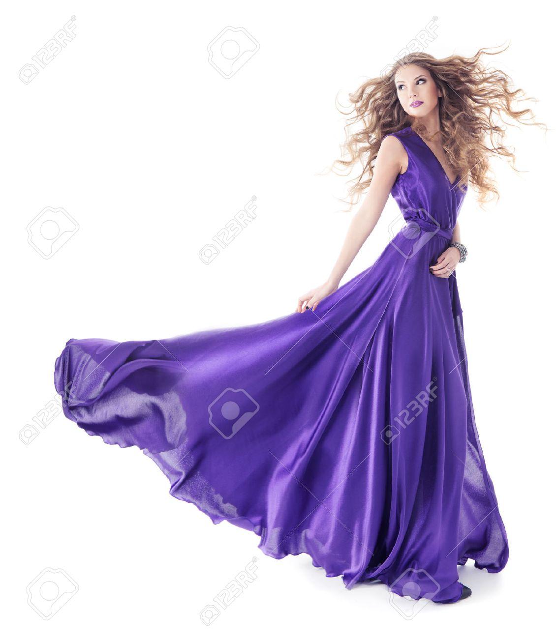 Purple Silk Dress