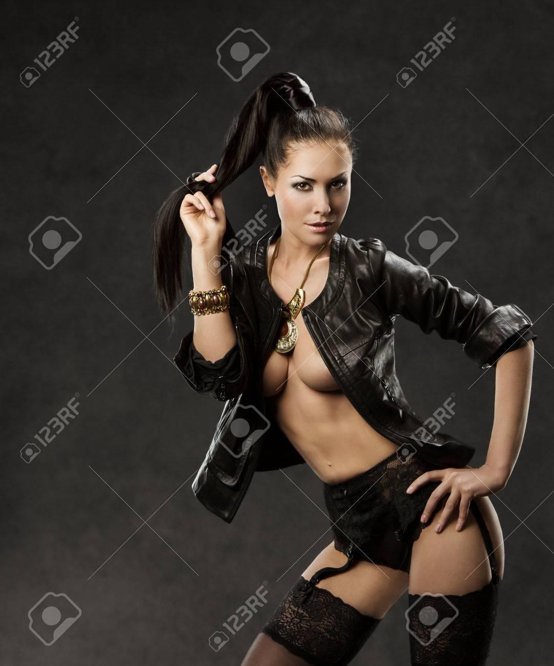 Leather Stockings Erotic Photo