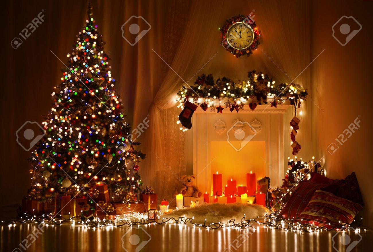 Interior Design Gifts Christmas Room Interior Design Xmas Tree Decoratedlights