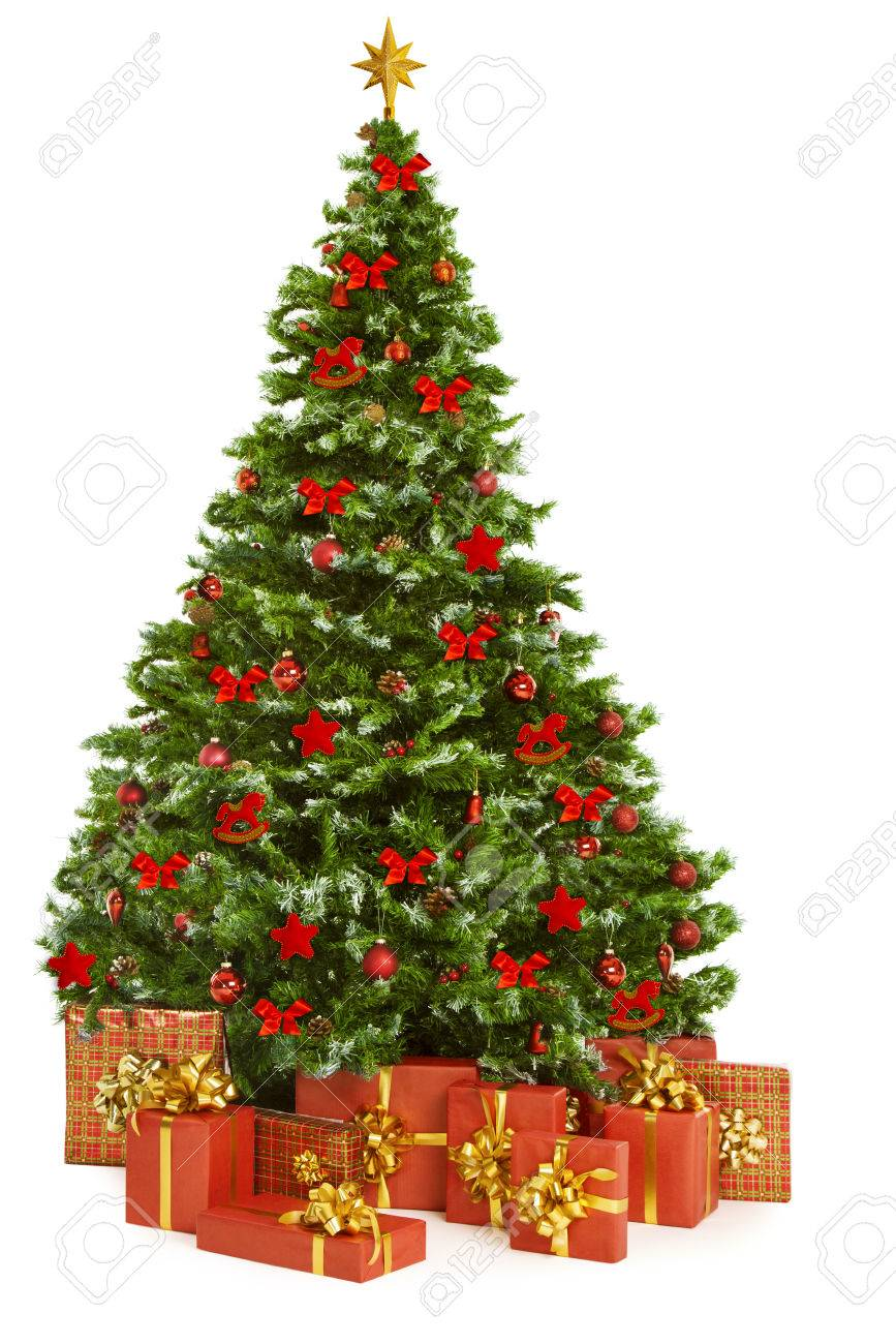 Christmas Tree and Presents Gifts, Xmas Tree Decorated with Toys,..