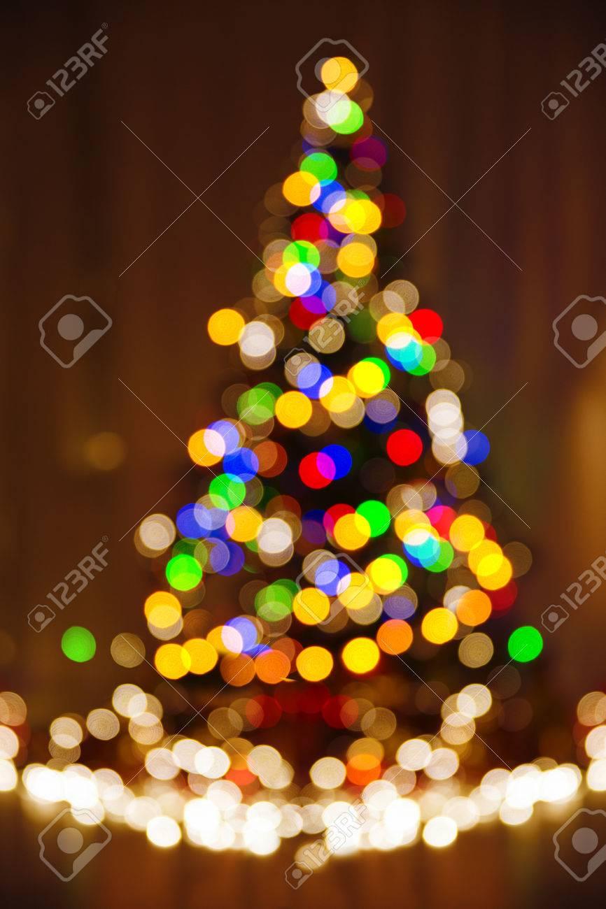 Immagini Luci Di Natale.Defocused Luci Di Natale Albero Di Natale Immagine Festivita Variopinta Di Notte