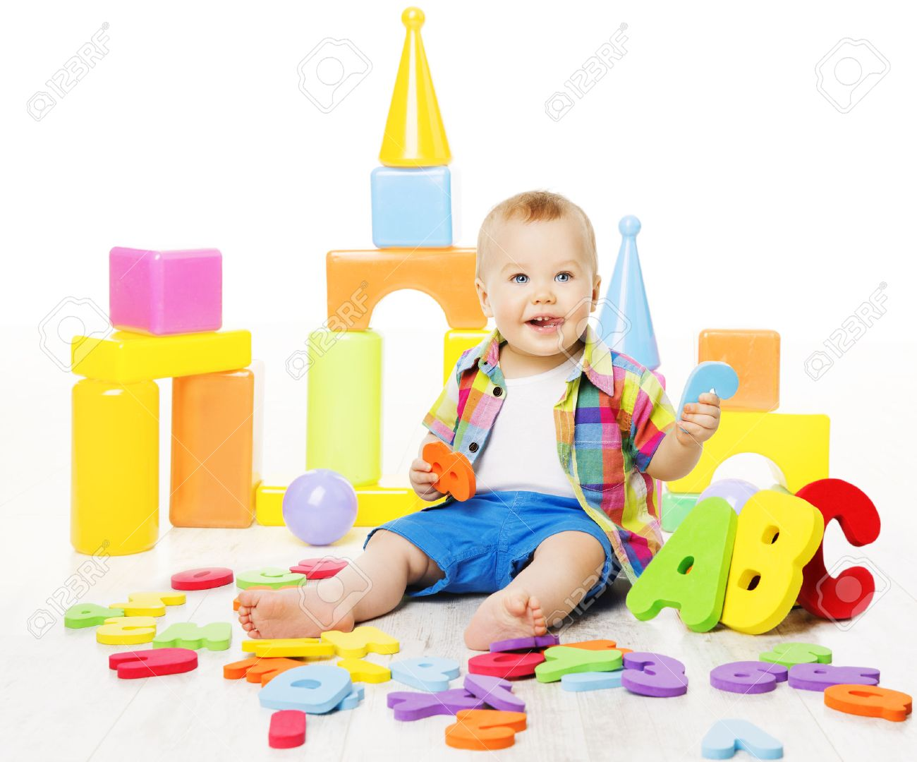 Baby Educational Toys Kid Play Abc Colorful Letters Children Stock Photo Picture And Royalty Free Image Image 52548677