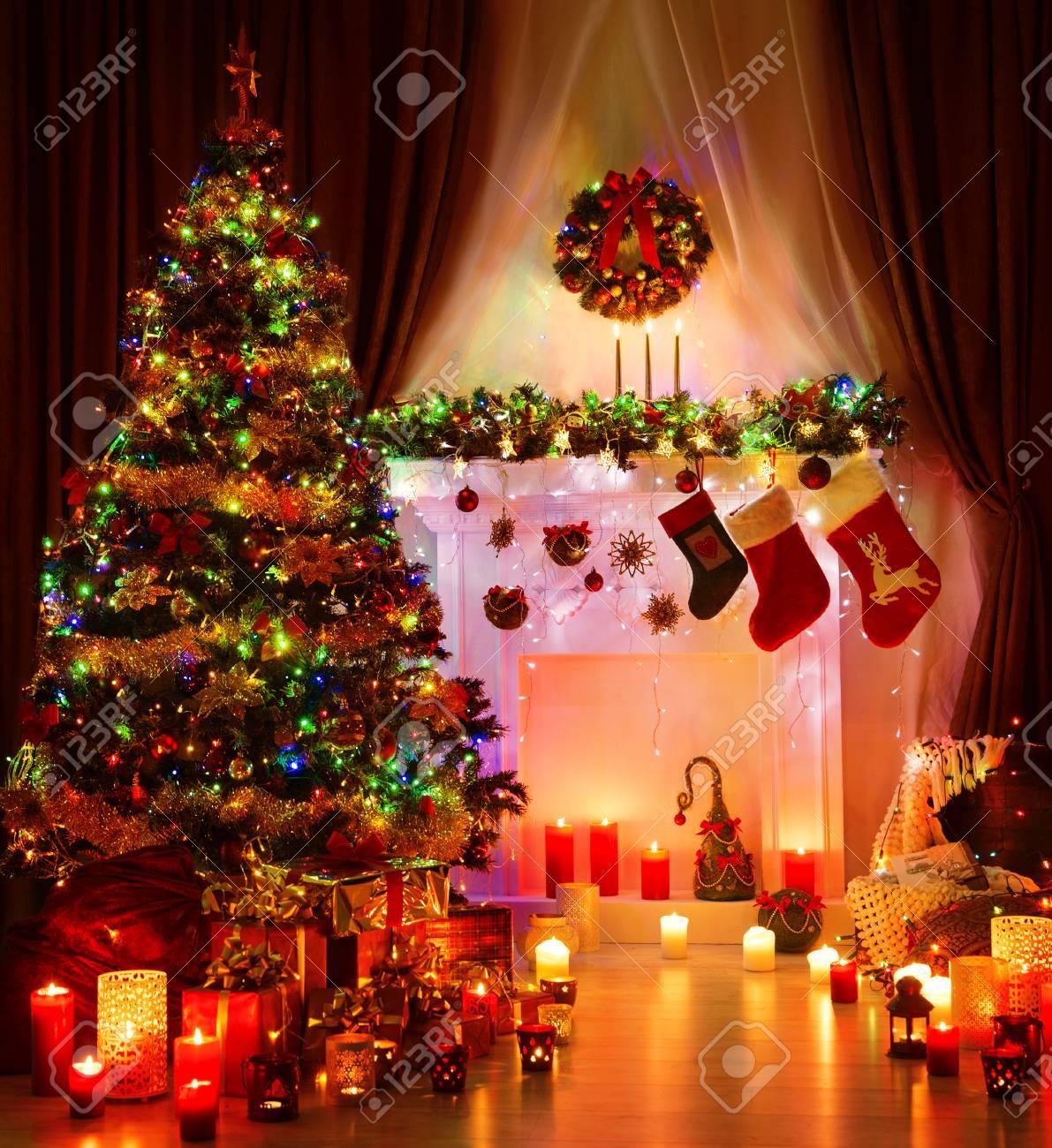 Weihnachtszimmer Und Beleuchtung Xmas Tree, Zauberinnen Kamin ...