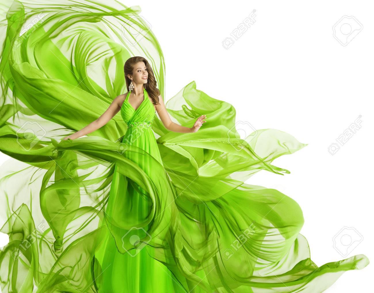 Abendkleid grun weib