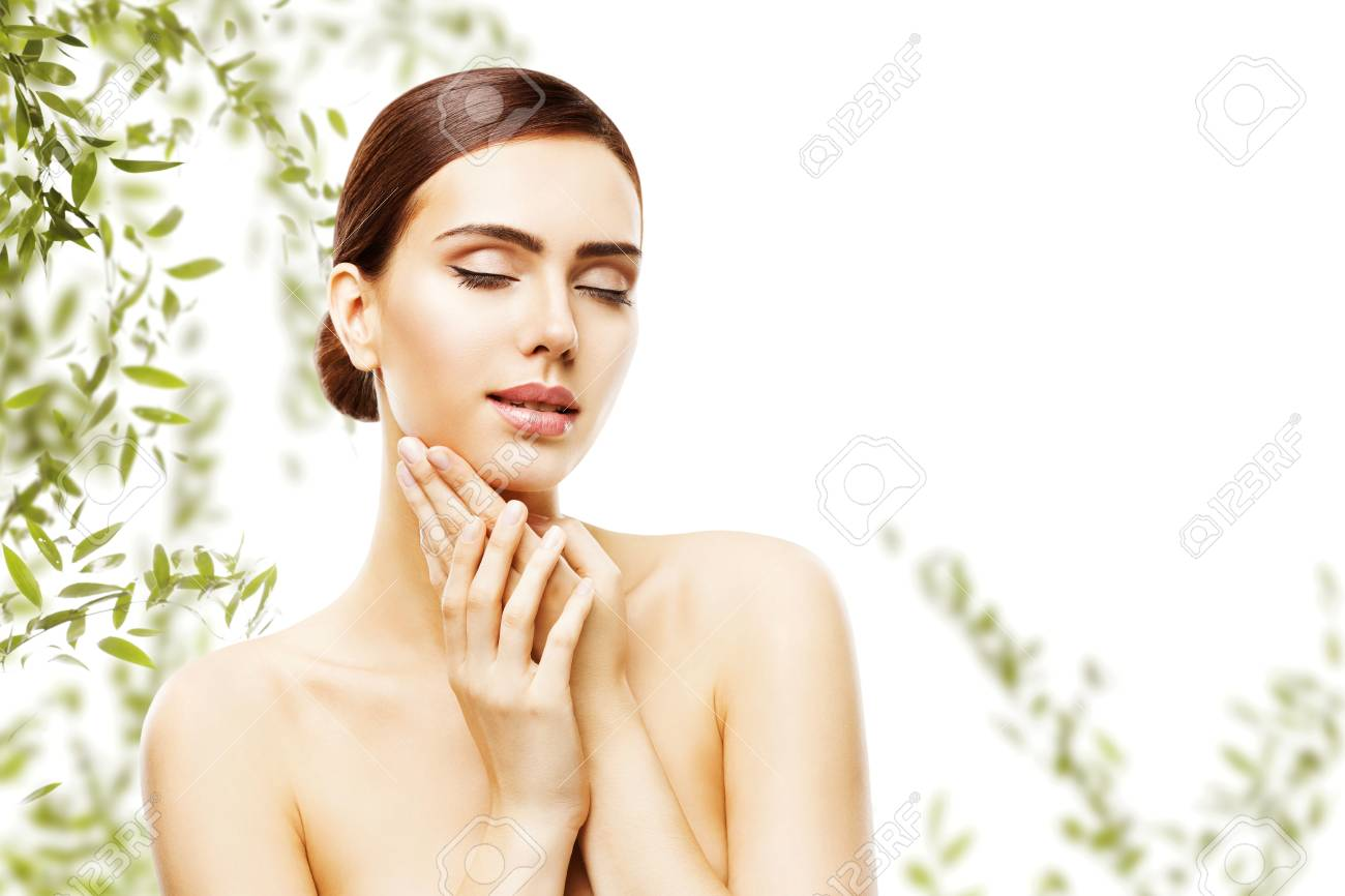 Beauty Skin Care And Face Makeup Woman Skincare Natural Make Stock Photo Picture And Royalty Free Image Image 101556641
