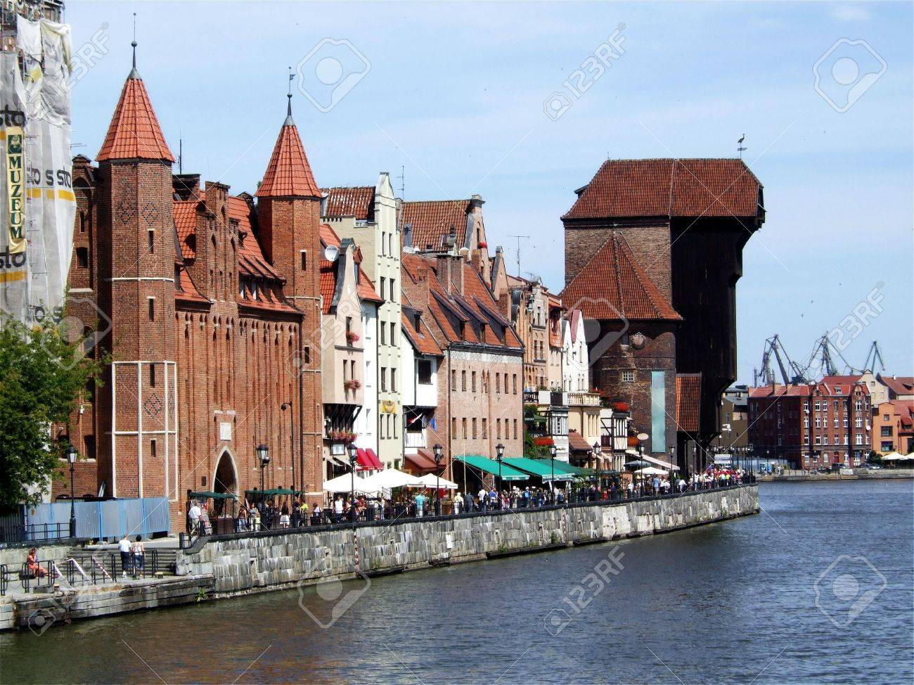 waterfront in Gdansk, Poland, with the characteristic crane Stock Photo - 2724954