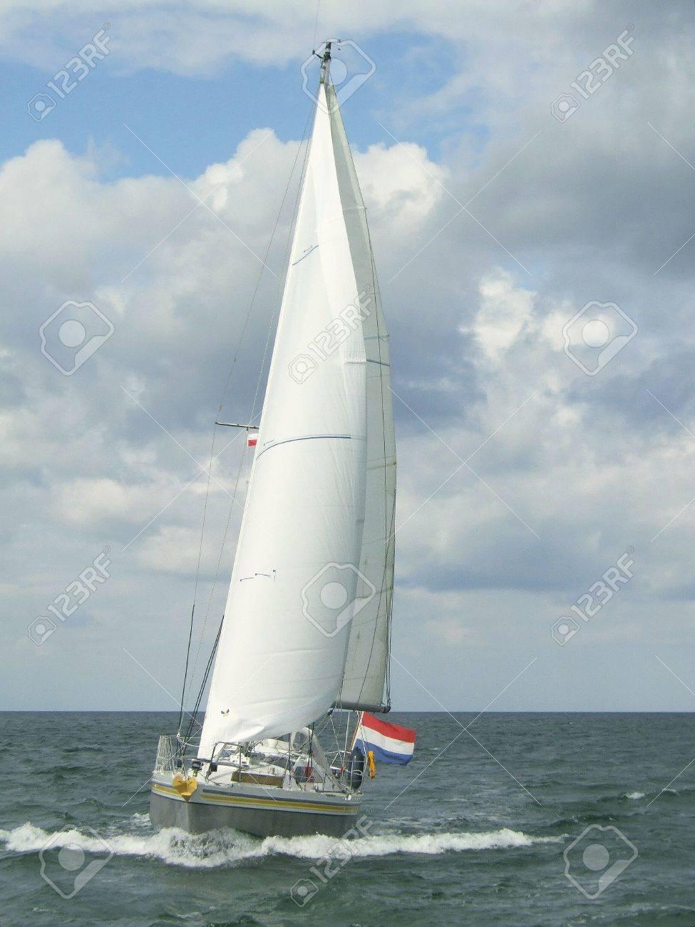 sailing yacht at sea Stock Photo - 2736116