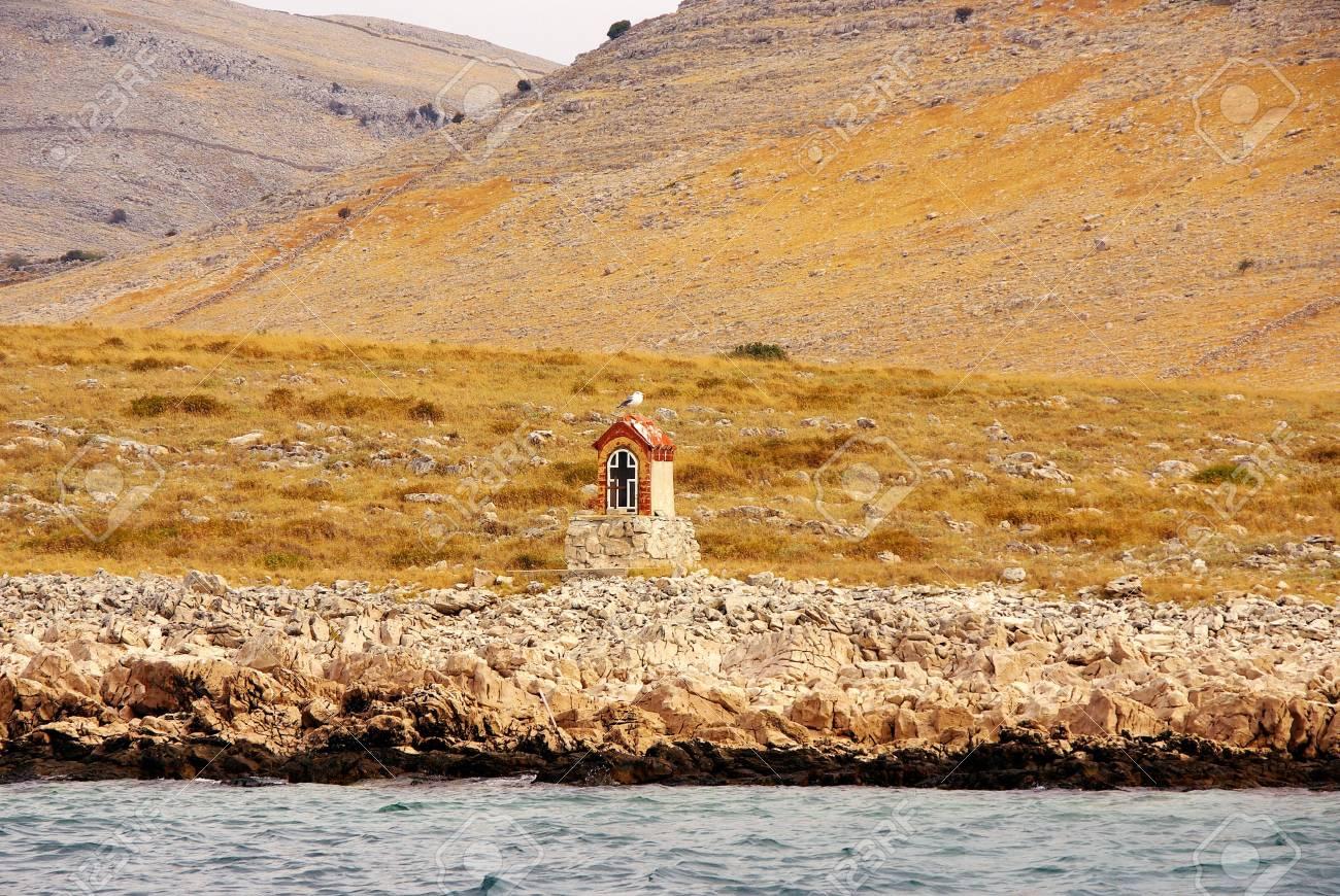 A chapel at the island Kornat in Croatia Stock Photo - 3851783