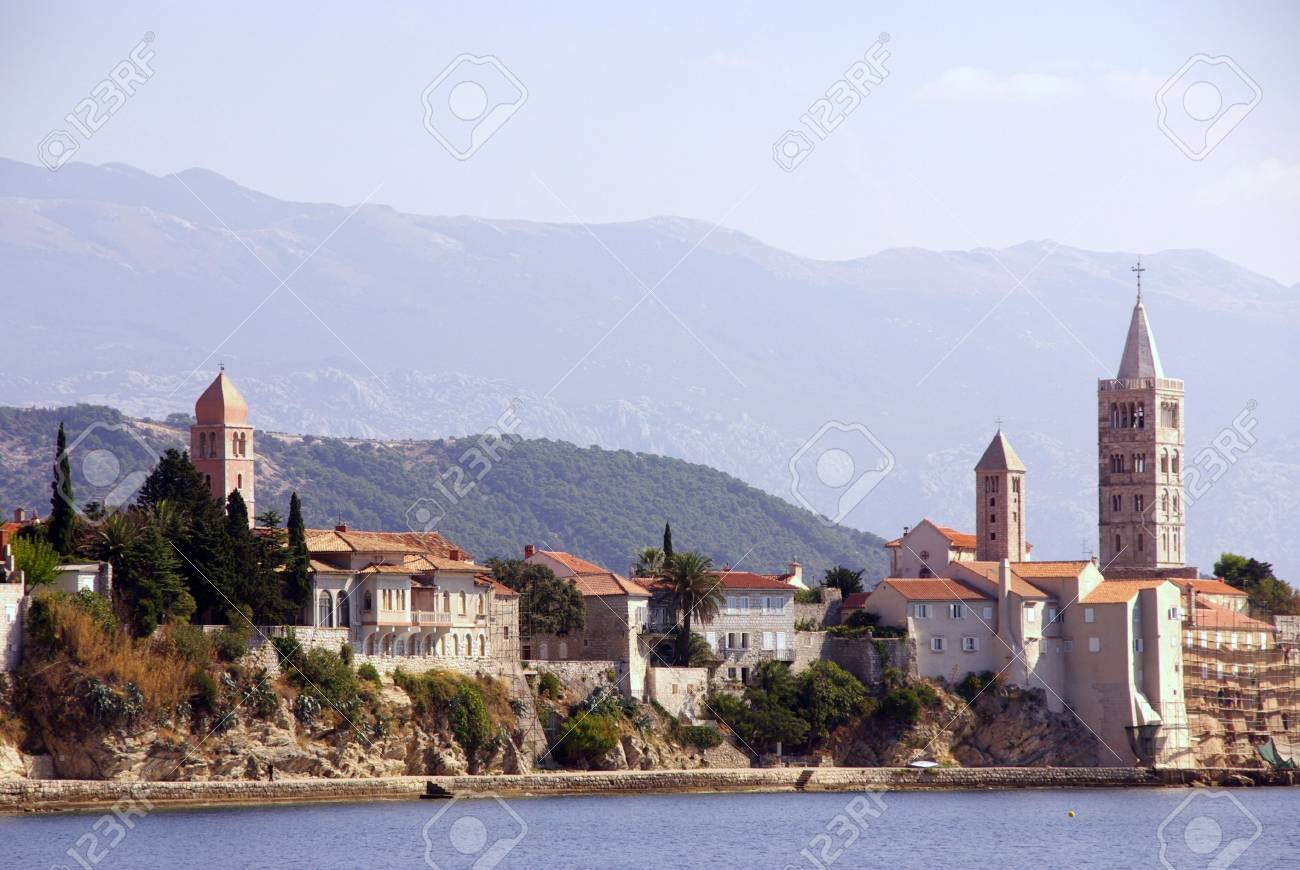 Rab town at the island Rab in Croatia Stock Photo - 4097113