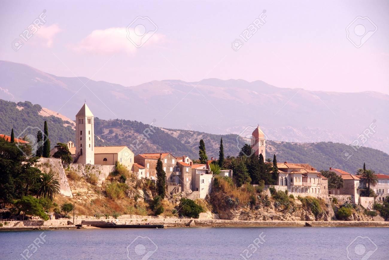 Rab town at the island Rab in Croatia Stock Photo - 4097114