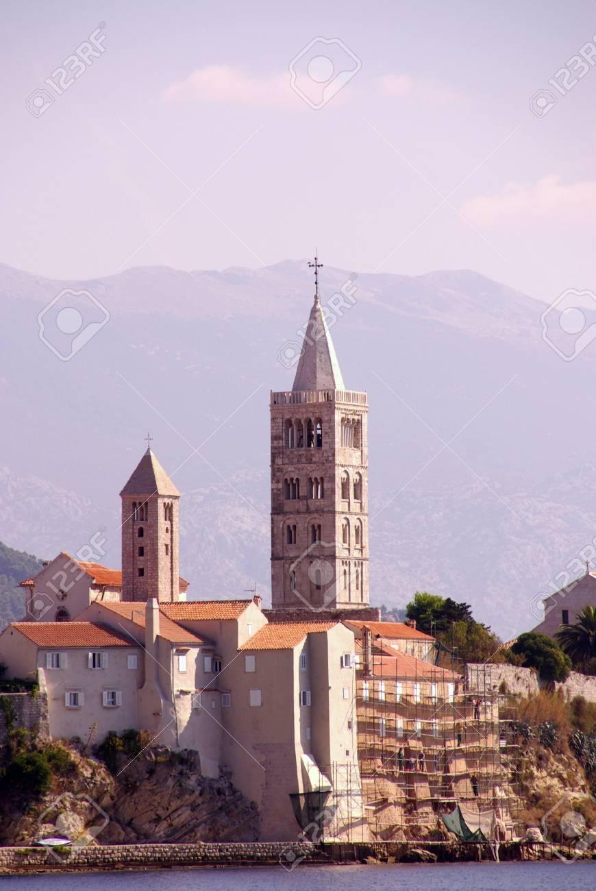 Rab town at the island Rab in Croatia Stock Photo - 4097109