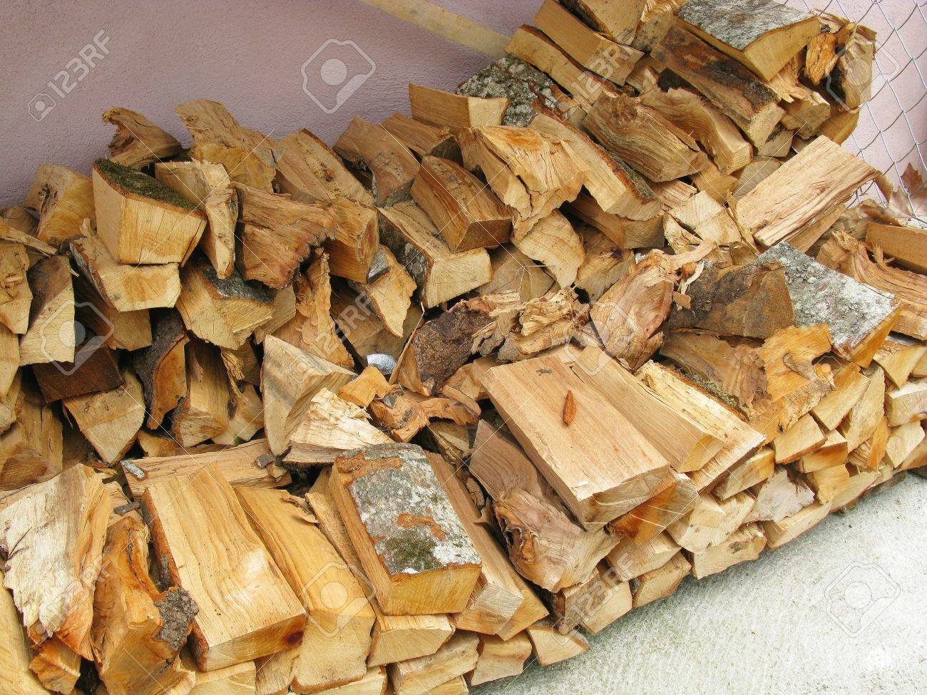 A storage wood for a fireplace Stock Photo - 5215066 - A Storage Wood For A Fireplace Stock Photo, Picture And Royalty
