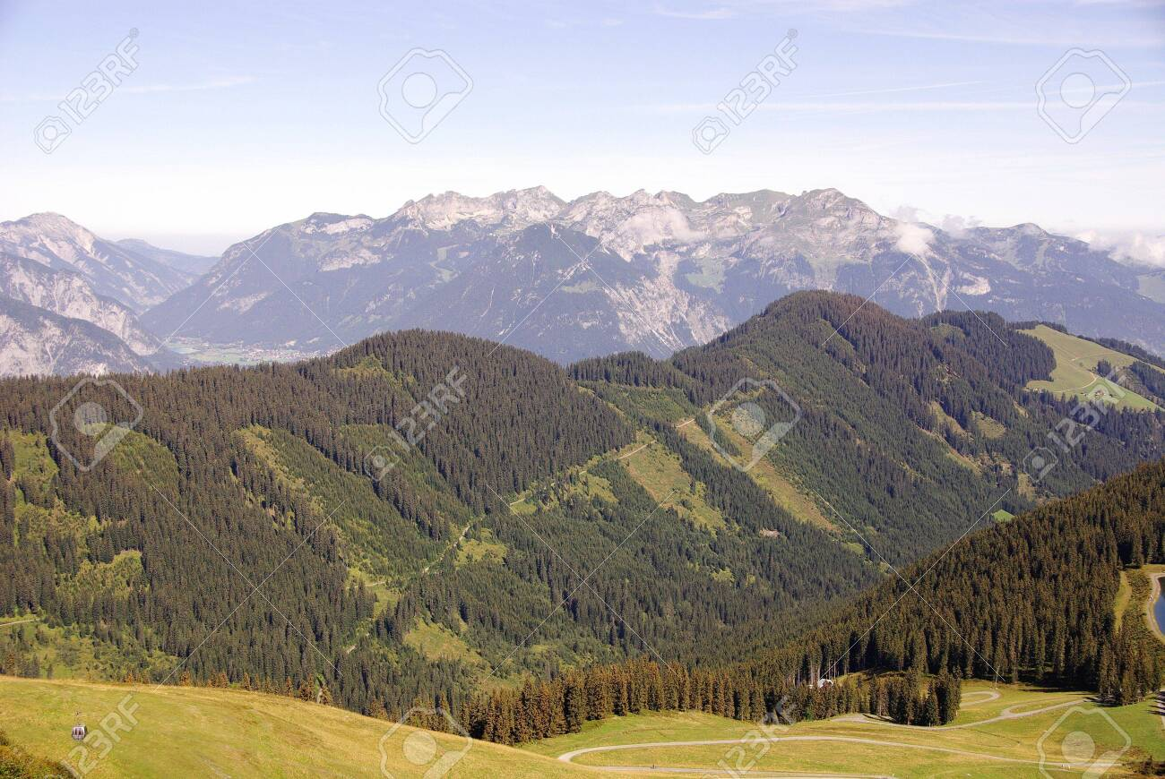 View at the Austrian Alps Stock Photo - 5856178