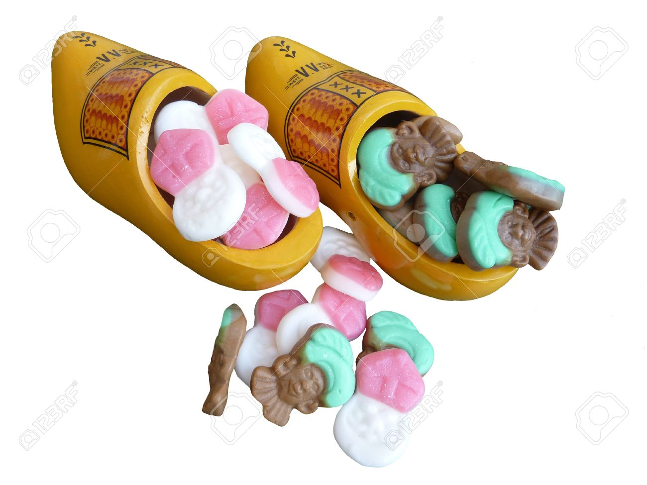 Wooden shoes with sweet cadies from Sinterklaas in the Netherlands Stock Photo - 10993186