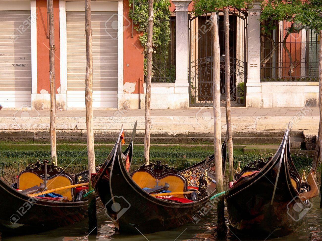 Gondolas in Venive in Italy Stock Photo - 12408860