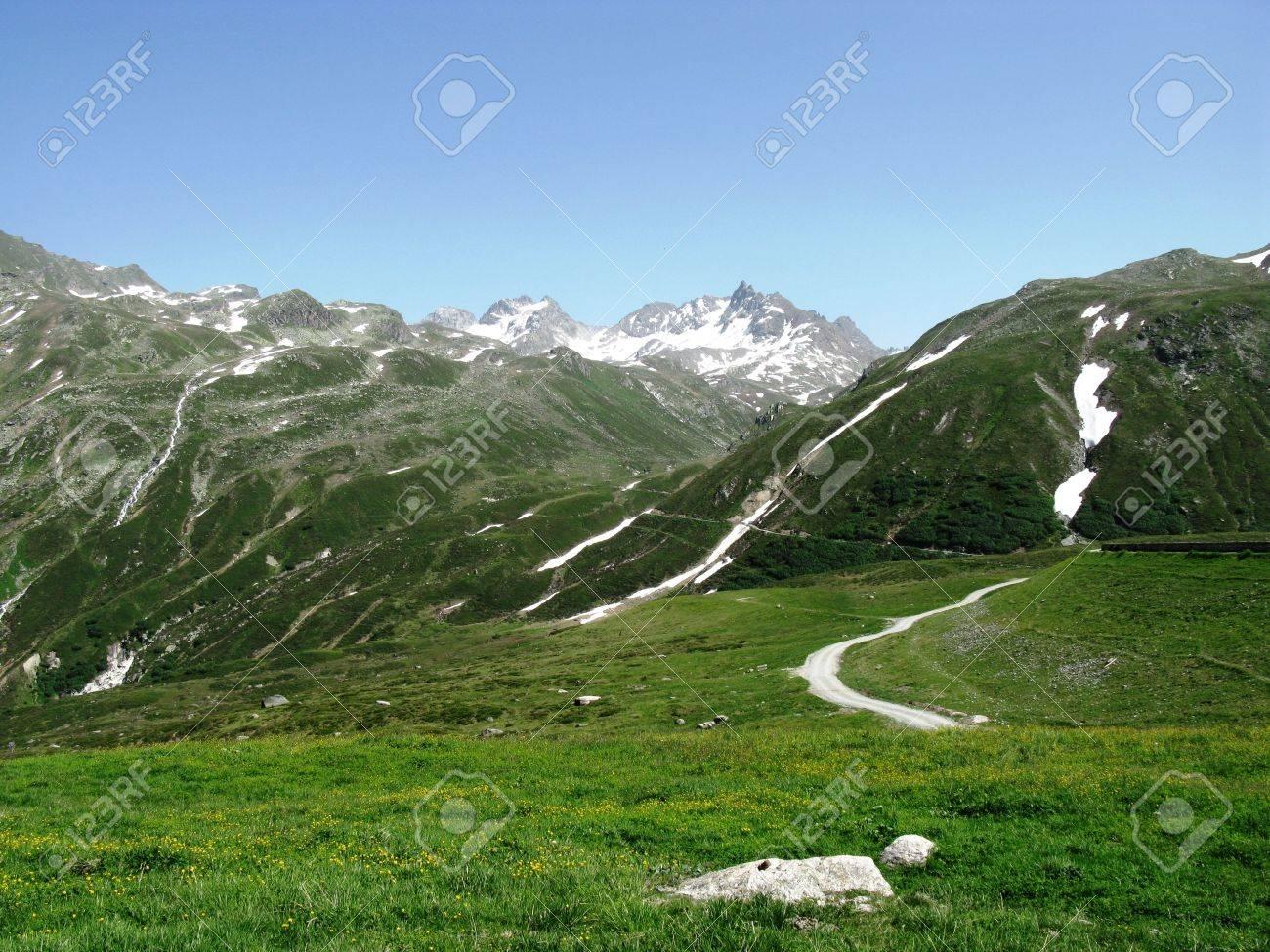 Silvretta high Alpine pass in Austria Stock Photo - 14286638